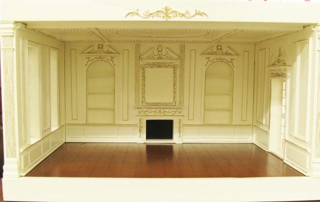 【レディ・アンのドールハウス】 【完成品・組立不要】【本州送料無料】 本格ルームボックス 女王様のお部屋 ホワイト&ゴールド LAEMPWG