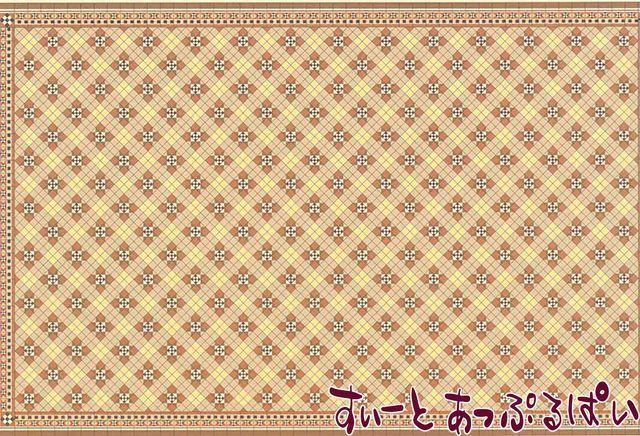 【1/24サイズ】 ドールハウス用壁紙  BPHVT307