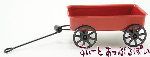 赤いメタルのガーデンワゴン IM66265