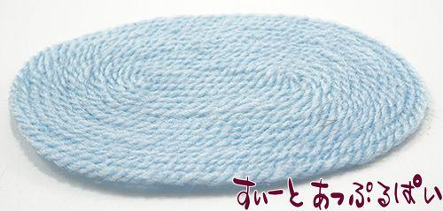 ブルーのオーバルラグ IM69003