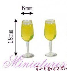 シャンパン入りシャンパングラス 2個セット MWDS14-2
