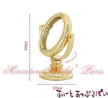 【1/24サイズ】 金の卓上ミラー MWHM38