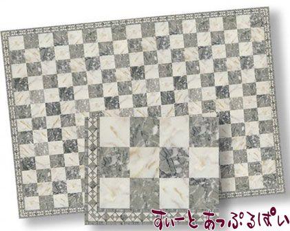 【1/24サイズ】【スペイン製】 ドールハウス用 大理石シート グレイ x アイボリー  207 x 134 mm WM24740
