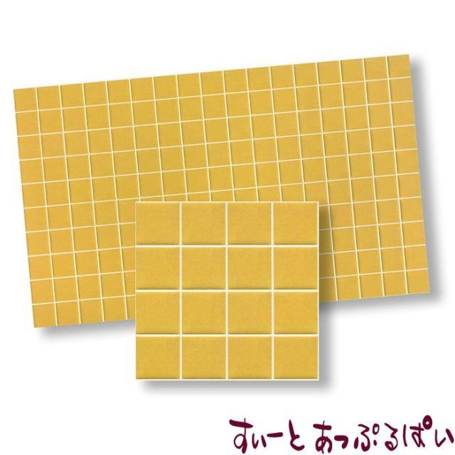 【スペイン製】 ドールハウス用タイルシート サンドイエロー 275x163 mm WM34350