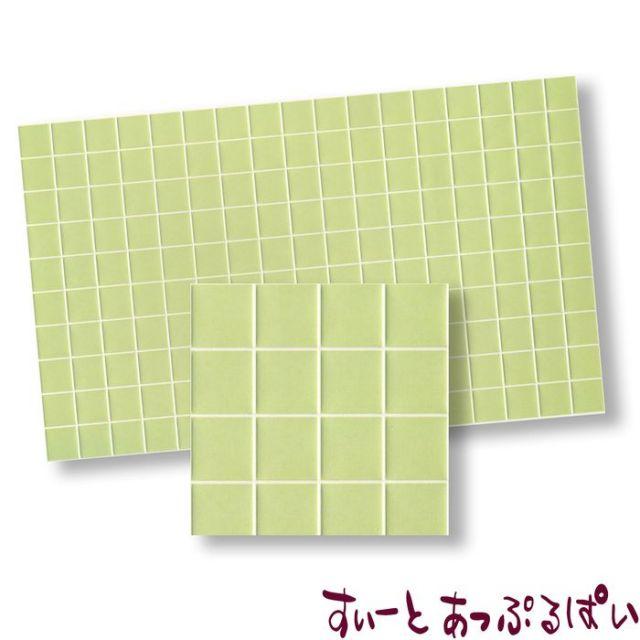 【スペイン製】 ドールハウス用タイルシート ライトグリーン 275x163 mm WM34351