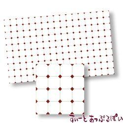 【スペイン製】 ドールハウス用タイルシート ブラウンダイヤxホワイト 275x163 mm WM34364