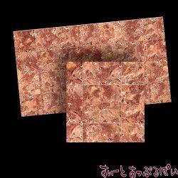 【スペイン製】 ドールハウス用タイルシート 大理石 ブラウン 245x140 mm WM34725