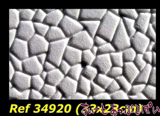 【スペイン製】 ドールハウス用テクスチャーシート 不揃い石 327x233 mm WM34920