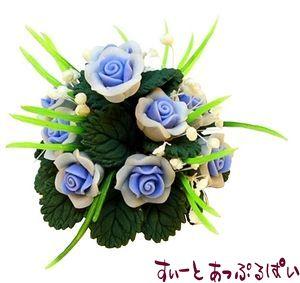 薔薇のテーブルセンターピース ブルー BDCP009