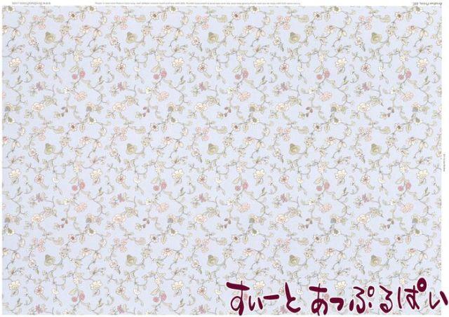 【1/12サイズ】 ドールハウス用壁紙 BP1FL155