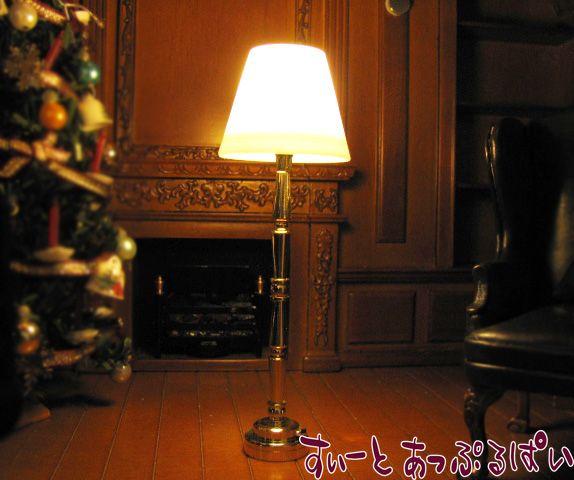 【3V電池式LED照明】 金のフロアスタンド HKL-FL-301