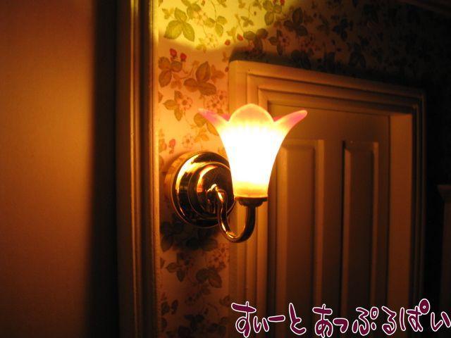 【3V電池式LED照明】 ウォールランプ ピンクリリー  HKL-PL