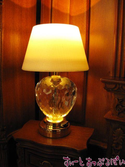 【3V電池式LED照明】 キラキラクリスタルのナイトスタンド HKL-TL-002