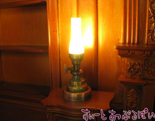 【3V電池式LED照明】 ハリケーンランプ ブロンズ フロストシェード HKL-TL-025A