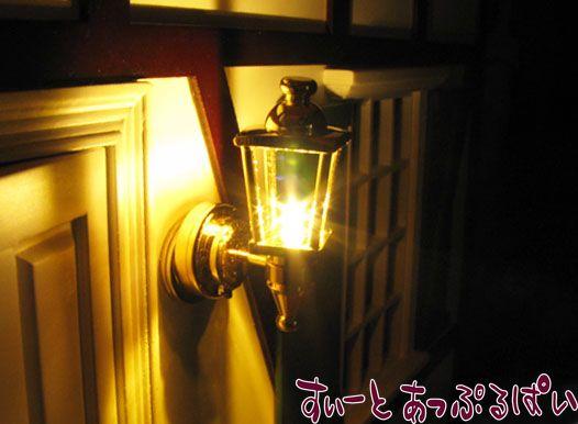 【3V電池式LED照明】 金のキャリッジランプ HKL-WL-201