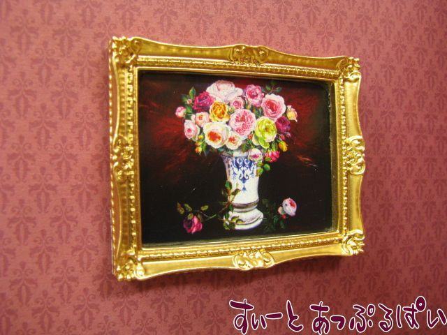 素敵なお花のフレーム その2 溢れる薔薇 50 x 40 mm ID23028