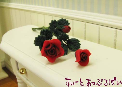 薔薇のプチブーケ レッド IDF001R