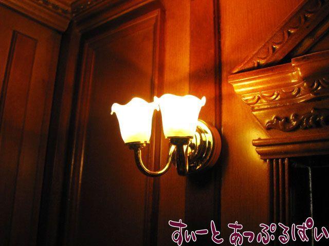 【3V電池式LED照明】 ウォールランプ ゆり2灯  IDHKL-WL-206