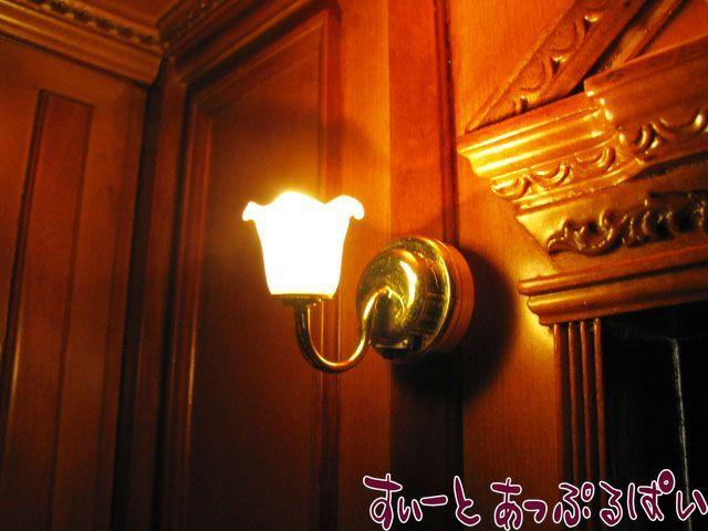 【3V電池式LED照明】 ウォールランプ ゆり1灯  IDHKWL-208