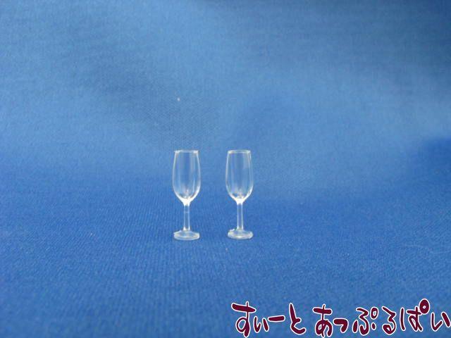 プラスチック製 シャンパングラスA細身 2個セット IDMWDS5-1