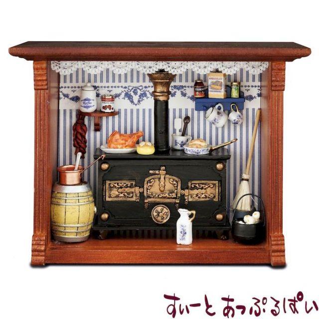 【ロイターポーセリン】 ウォールピクチャーボックス オールドジャーマンストーブ RP1700-0