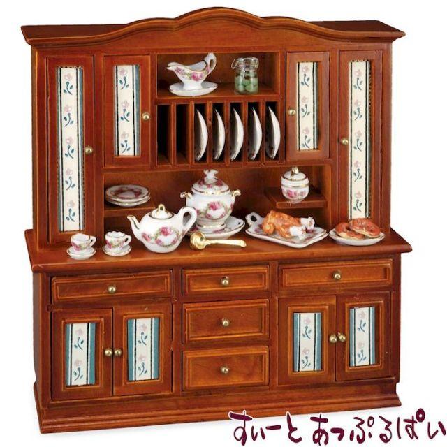 【ロイターポーセリン】 キッチンキャビネット ローズバンド RP1777-0