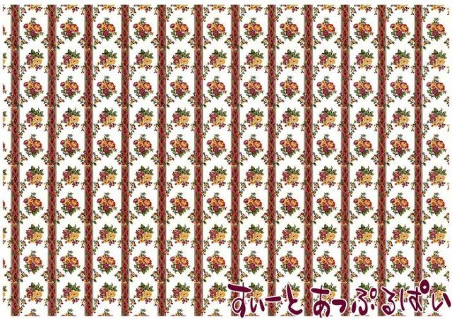 【1/12サイズ】【スペイン製】 ドールハウス用壁紙 432 x 260ミリ WM35581