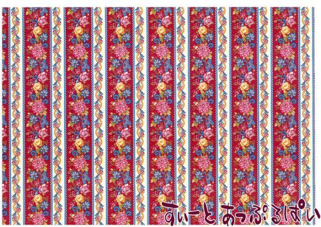 【1/12サイズ】【スペイン製】 ドールハウス用壁紙  432 x 260ミリ WM35587