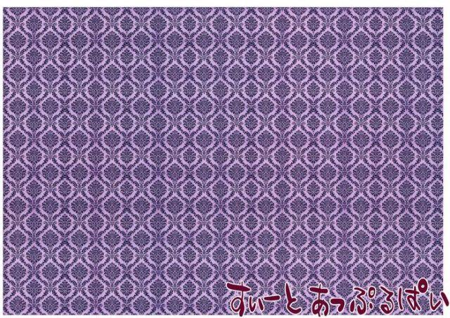 【1/12サイズ】【スペイン製】 ドールハウス用壁紙  432 x 260ミリ WM35598