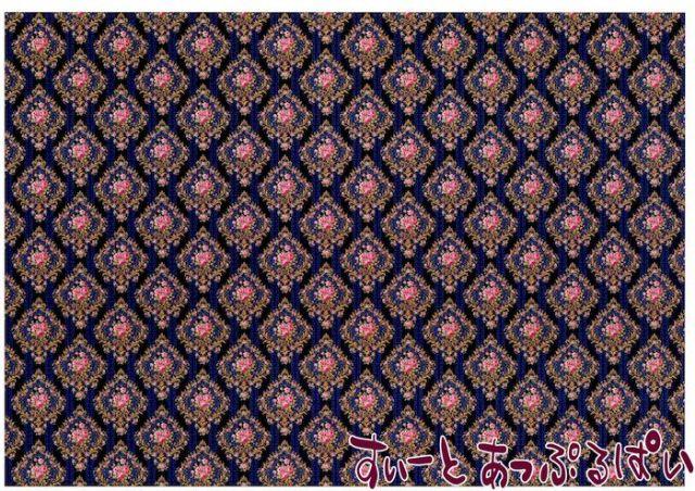 【1/12サイズ】【スペイン製】 ドールハウス用壁紙 432 x 260ミリ WM35599