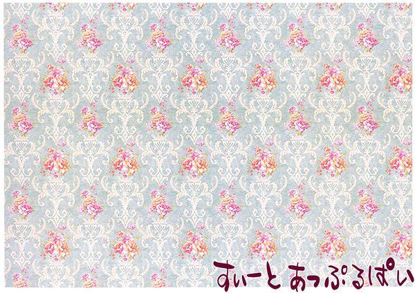 【1/12サイズ】【スペイン製】 ドールハウス用壁紙 432 x 260ミリ WM35610