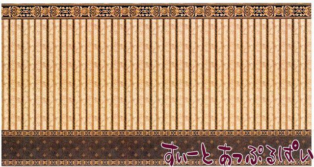 【1/12サイズ】【スペイン製】 ドールハウス用腰壁風壁紙 440 x 217ミリ WM35805
