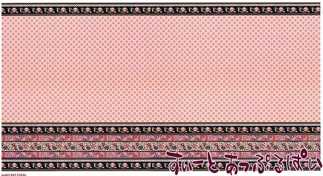 【1/12サイズ】【スペイン製】 ドールハウス用腰壁風壁紙 440 x 217ミリ WM35806