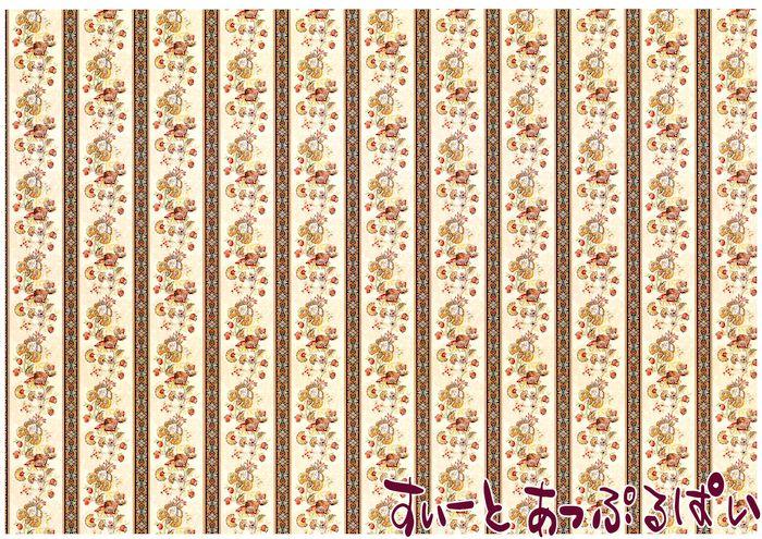 【1/12サイズ】【スペイン製】 ドールハウス用壁紙 432 x 260ミリ WM35579