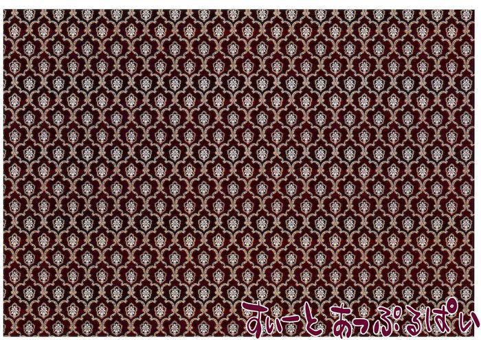 【1/12サイズ】【スペイン製】 ドールハウス用壁紙  432 x 260ミリ WM35608