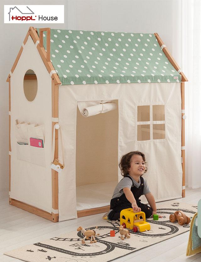 ホップルハウス プラスプレイ HOPPLHouse +Play フレーム&カバーセット フレーム4色 カバー3種 選べる12タイプ 木製 プレイハウス 男の子 女の子 子供 部屋 キッズ 子供部屋 秘密基地 キッズハウス