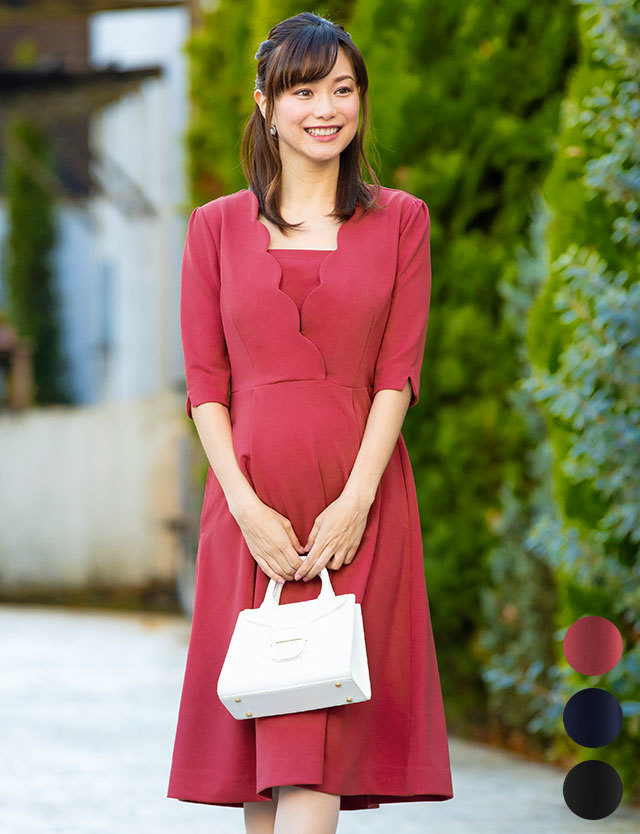 【早割10%OFF】スカラカシュクール授乳ワンピース 授乳服マタニティウェア