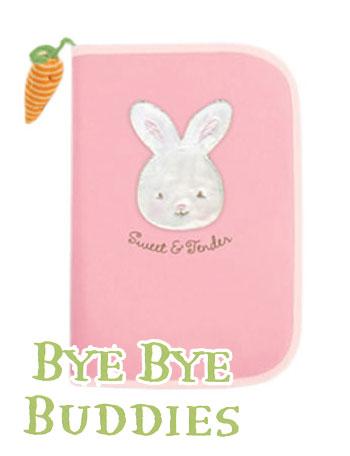 母子手帳ケース ピンク bu242 赤ちゃん/ベビー/うさぎ