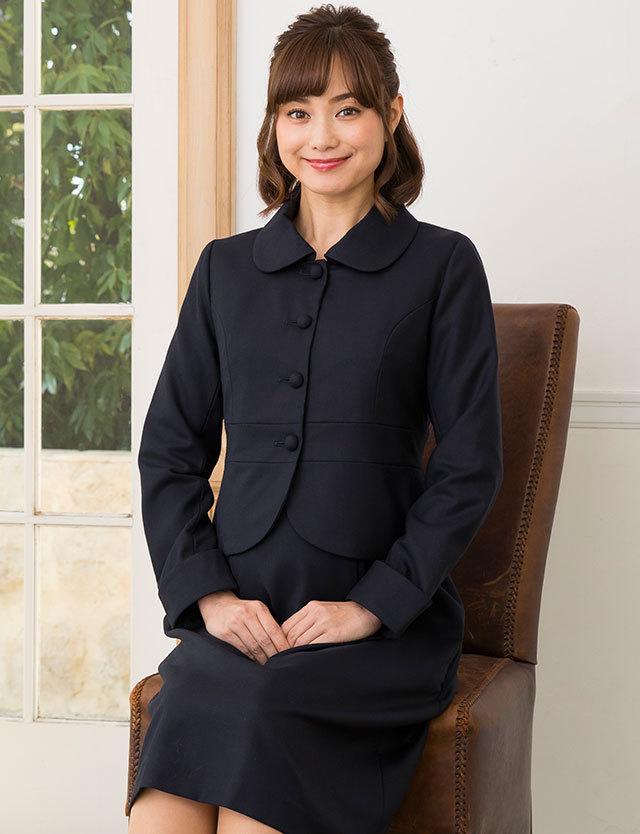 安心と信頼の日本製 お受験や入卒園に!リュクスな品格ジャケット  ウールブレンドフォーマルジャケット