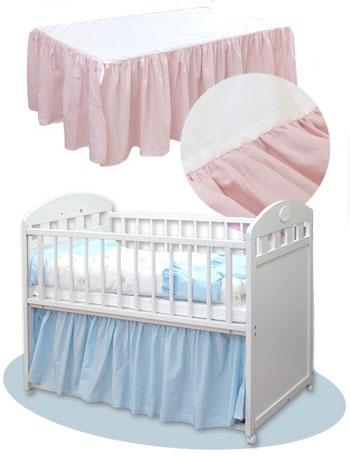 コットン ベッドスカート dg2027 赤ちゃん/ベビー/ベビーベッド/寝具/ベッドアクセサリー