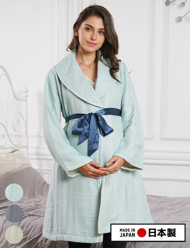 【クリアランス】日本製 バスローブにもなる!6重ガーゼ わたあめガーゼガウン 授乳服マタニティウェア