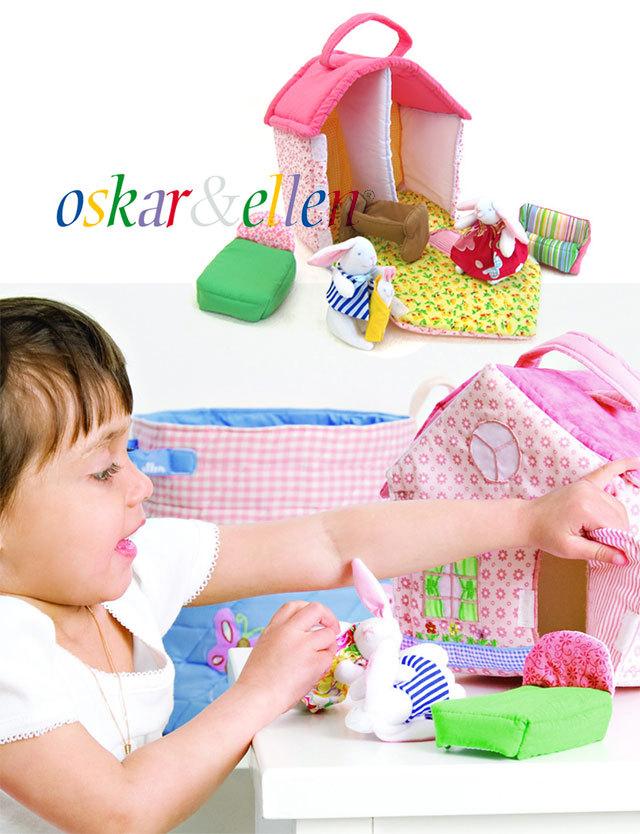 北欧スウェーデン Oskar&Ellen ふわふわ可愛い【ドールハウス】 oe212 おもちゃ/ソフトトイ/知育玩具/布おもちゃ/1歳 2歳 3歳/誕生祝い/プレゼント