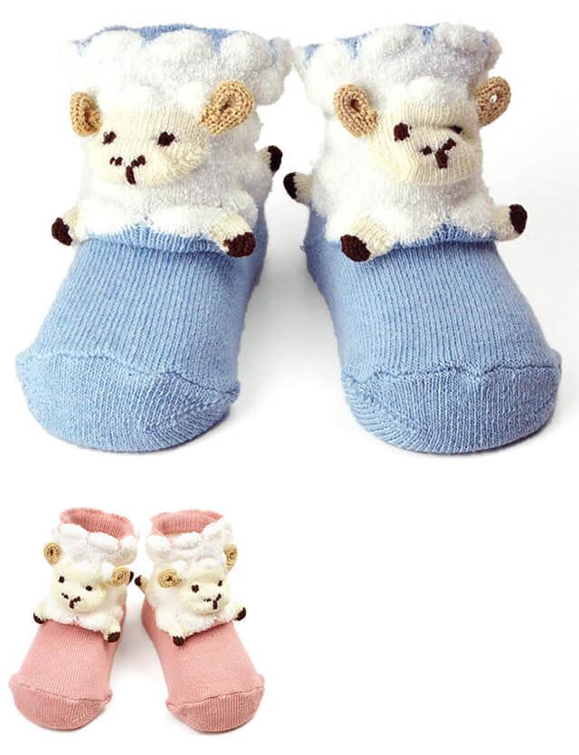 pompkins BABY ベビーソックス(ひつじ) XS・Sサイズ/ソックス/靴下 【日本製】