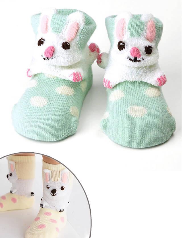 pompkins BABY ベビーソックス(うさぎ) pp1212255 赤ちゃん/ソックス/靴下 【日本製】