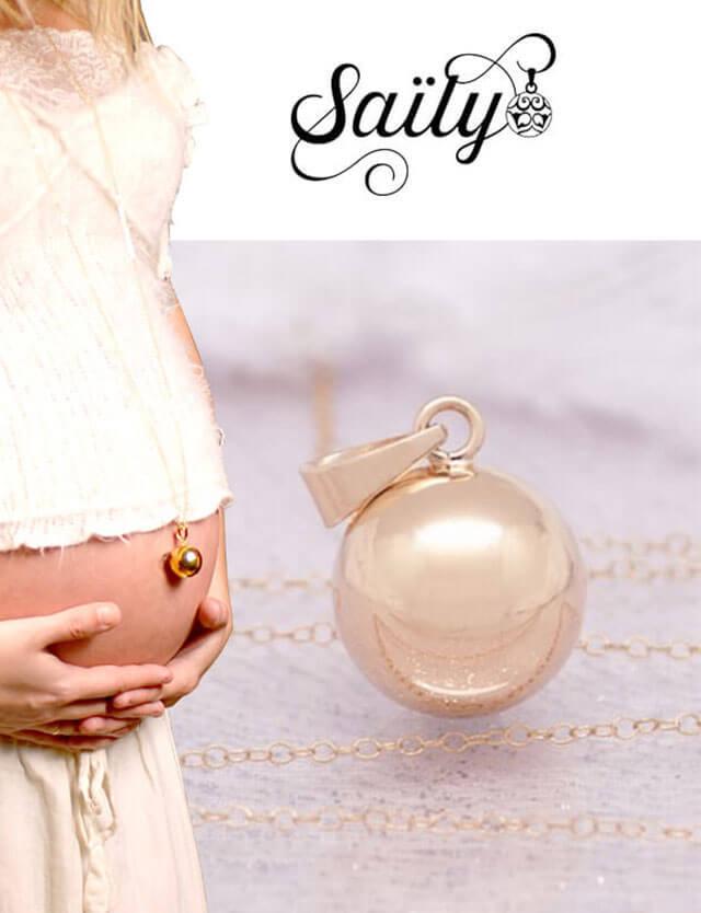 妊婦さんへのプレゼントに!マタニティ ロング ネックレス ゴールド