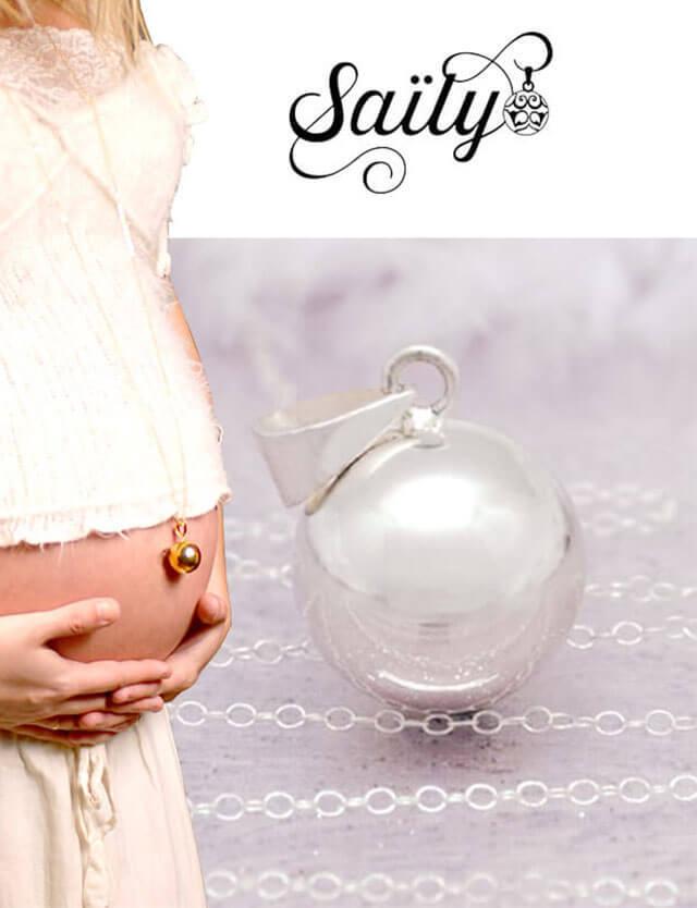 妊婦さんへのプレゼントに!マタニティ ロング ネックレス シルバー