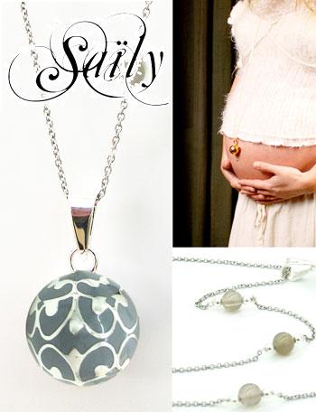 Saily ボラス メロディボール ネックレス グラムール グレー sa1100dxb10 妊婦さんへのプレゼントに!胎教にもよい美しい鈴音