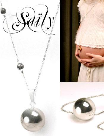 Saily 【セリー】 ボラス メロディボール ネックレス リセ シルバー sa2110dxbx  妊婦さんへのプレゼントに!