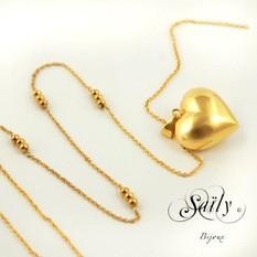 Saily ボラスメロディボールネックレス ハートコレクション ゴールド sa2320c17cx