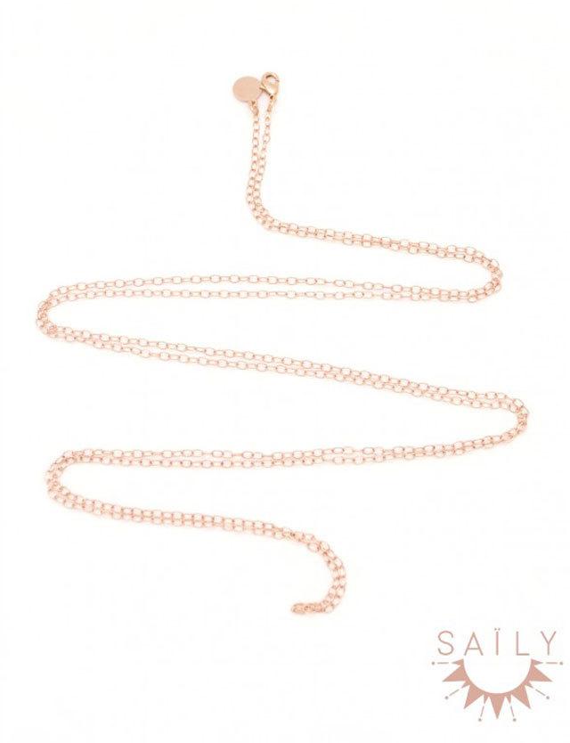 妊婦さんへのプレゼントに!Saily セリー ロングネックレス シングルチェーン【単品】